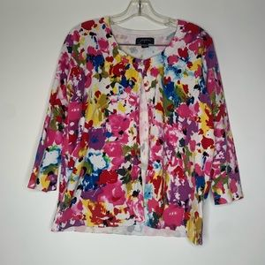 Josephine large cardigan button up colorful floral
